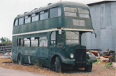 old green bus