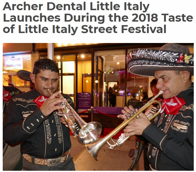 Archer Denta;l Launches Taste of Little Italy 2018