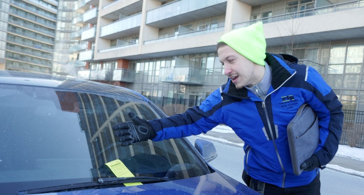 Parking ticket, condo inspection in Toronto